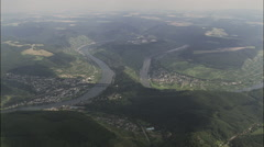 Bends In The Mosel River Stock Footage