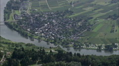 River Mosel And Bankside Towns Stock Footage