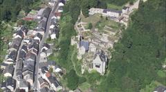 Larochette aerial Stock Footage