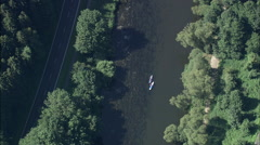 Canoeing On River - stock footage