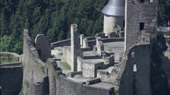 Chateau Du Bourscheid Castle Stock Footage