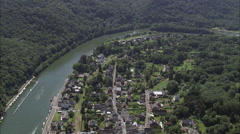Villages By La Meuse River Stock Footage