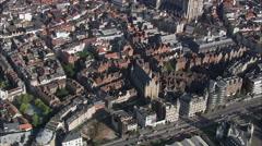 Vleeshuis aerial Stock Footage