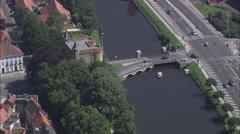 Gentpoort aerial Stock Footage