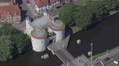 Kruispoort aerial Stock Footage