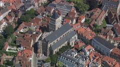 Bruges aerial Stock Footage