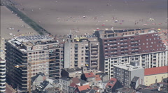 Blankenberge aerial Stock Footage