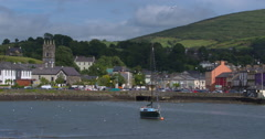 Picturesque Irish Seaside Town (Bantry) Stock Footage