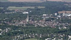 Senlis aerial Stock Footage