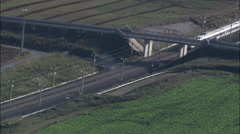Trains aerial Stock Footage