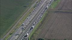 A4 Motorway Stock Footage