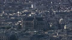 Paris aerial Stock Footage