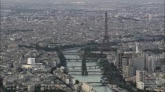 Paris Skyline Stock Footage