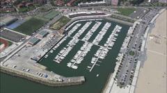 Hondarribia aerial Stock Footage