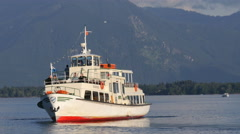 Tourist Cruiseship on Chiemsee Stock Footage