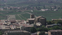 Biasteri Surrounded By Vineyards Stock Footage