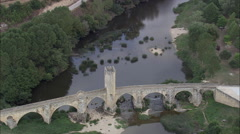 Frias Medieval Bridge Stock Footage