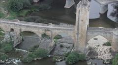 Frias Medieval Bridge Stock Footage