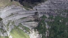 Escarpment Overlooking Anguio Stock Footage