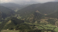Mountainous Landscape South Of Bilbao Stock Footage