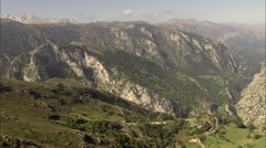 Norther Boundary Of Picos De Europa National Park Stock Footage
