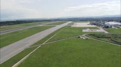 Landing At Asturias Airport Stock Footage