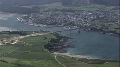 Ribadeo And Eo Estuary Stock Footage