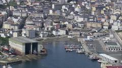 Burela aerial Stock Footage
