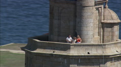 Tower Of Hercules Stock Footage