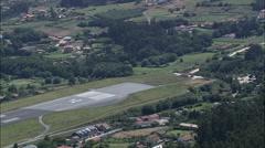 La Coruna Airport Stock Footage