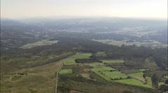 Woods And Farmland North Of Santiago De Compostela Stock Footage