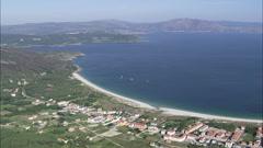 Towns Around The Bay Of Ezaro Stock Footage