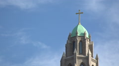 Religious building with a cross on top Stock Footage