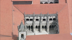 Monastery Of Santo Estevo De Ribas De Sil Stock Footage