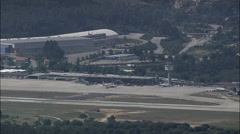 Landing At Vigo Airport Stock Footage