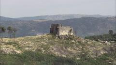 Monterrei Castle Stock Footage