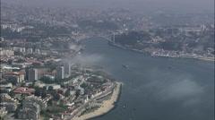 Sea Fog Over Douro River Esturay Stock Footage