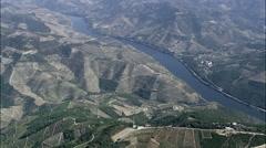 Vineyards Around The Douro River Stock Footage