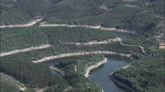 River Alva And Dam Stock Footage