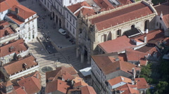 Coimbra aerial Stock Footage