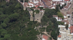 Obidos Walled Town Stock Footage