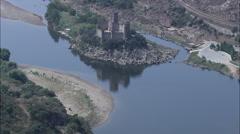 Castelo De Almourol Stock Footage