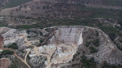 Marble Quarries Near Villa Vacosa Stock Footage