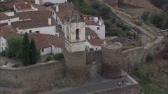 Monsaraz aerial Stock Footage