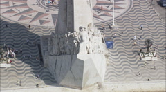 Monument To The Discoveries Stock Footage