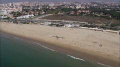Beach At Carcavelos Stock Footage
