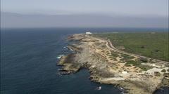 Coastline Along Sintra Cascais Natural Park Stock Footage