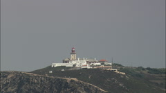 Cabo Da Roca Lighthouse And Memorial Stock Footage