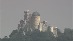 Pena National Palace Stock Footage