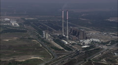 Power Station Near Sines Stock Footage